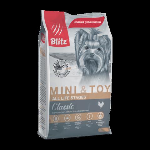 Blitz Сухой корм для собак миниатюрных и мелких пород