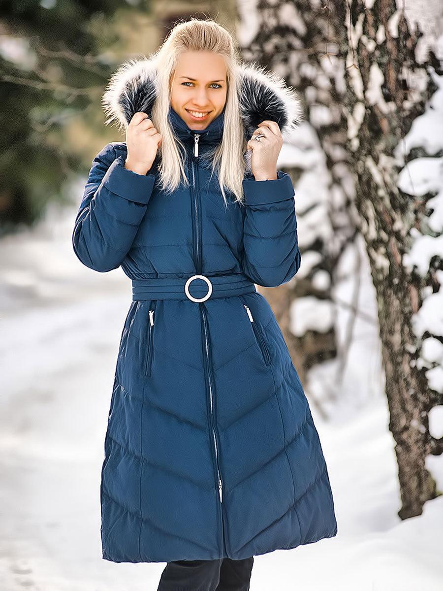 Joutsen пуховик Emilie темно-синий