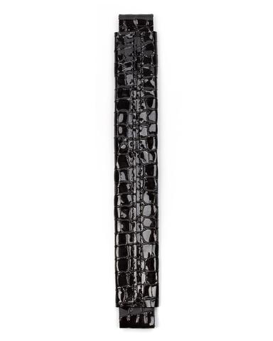 Сменная ручка черного цвета с фактурой кроко