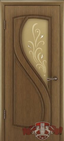 Дверь 10ДО3 (орех, остекленная шпонированная), фабрика Владимирская фабрика дверей
