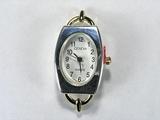 Основа для часов, металлическая, 40x19 мм, позолоченная и посеребренная, 1 шт.