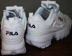 Кроссовки на толстой подошве Fila Disruptor 2 all white RN-91175 .