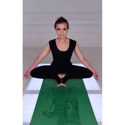 Каучуковый йога коврик Slon 185*68*0,4 см