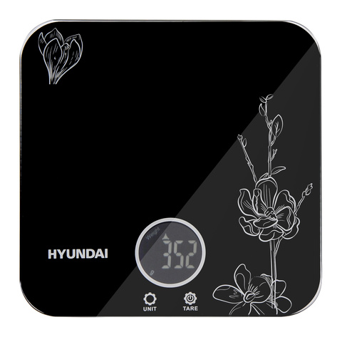 Весы кухонные электронные Hyundai HYS-KG421 макс.вес:5кг черный