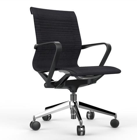 Офисное кресло Prov LB черная сетка, база хром