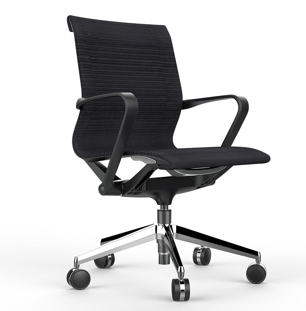 Офисное кресло Prov LB черная сетка, база хром - вид 1