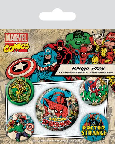 Набор значков «Marvel Retro. Человек-Паук»
