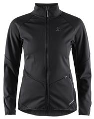 Утепленная ветрозащитная куртка для бега Craft Glide Black женская