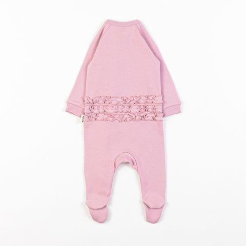 Zip-up sleepsuit with ruffles 0+, Blush