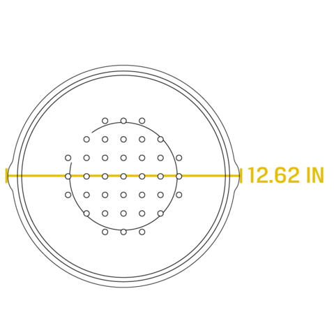Жаровня круглая с крышкой 7 л , артикул L10DOL3