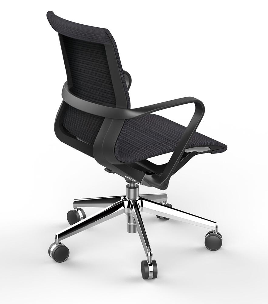 Офисное кресло Prov LB черная сетка, база хром - вид 5