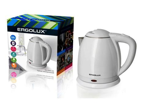 Чайник Ergolux ELX-KS02-C01 белый