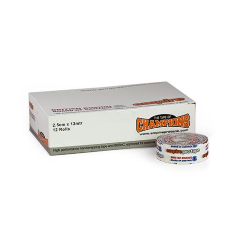 Боксерский тейп 2.5см x 13м  Empire Pro Tape BBBofC Box (12 катушек по 366 рублей)