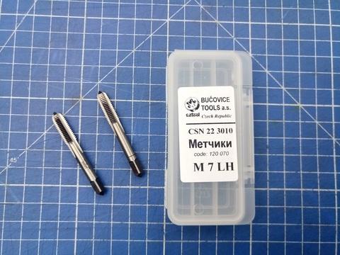 Метчик М7х1,0 (комплект 2шт, левый) СSN223010 2N(6h) CS(115CrV3) Bucovice(CzTool) 120070