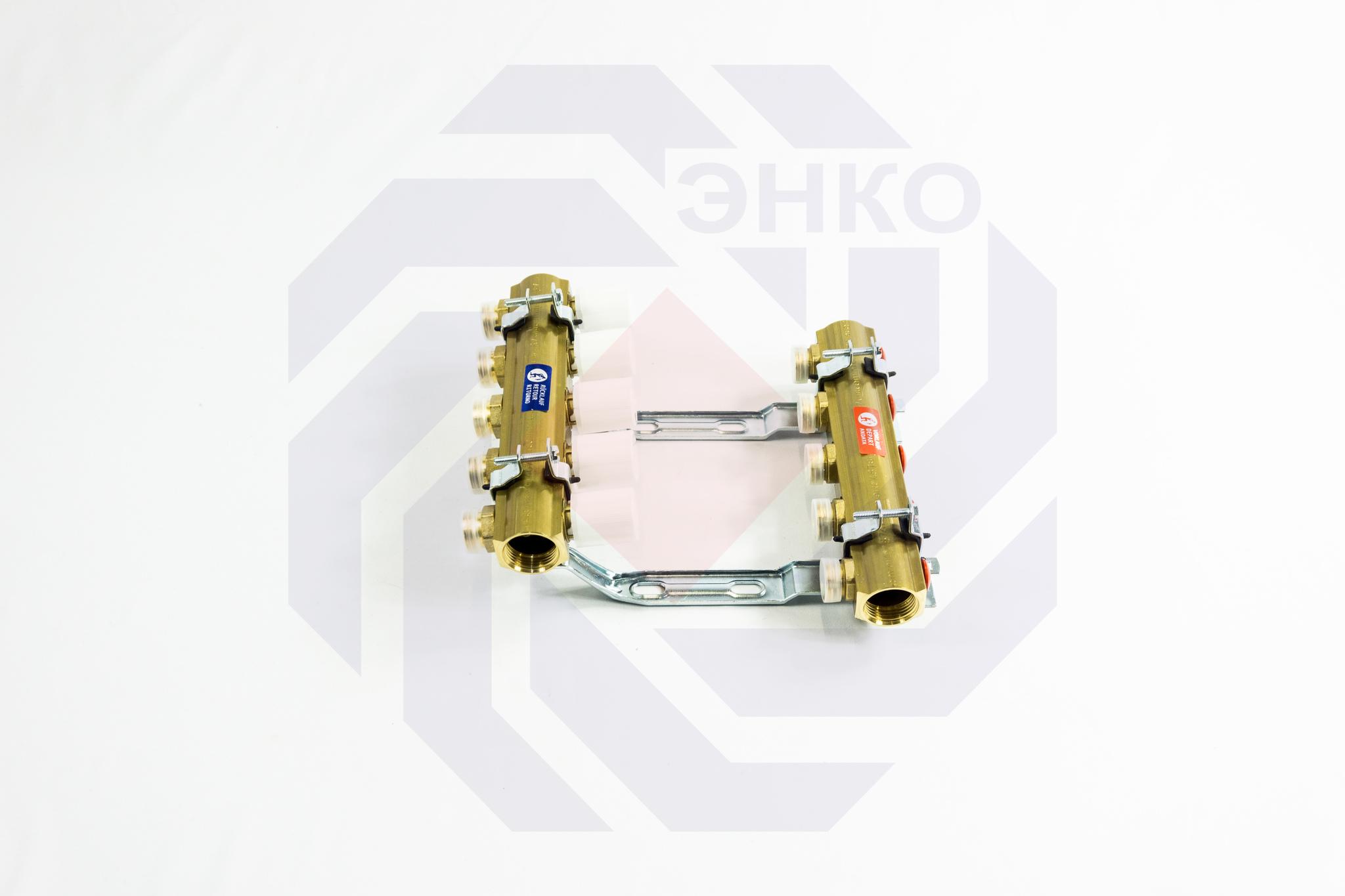 Комплект коллекторов без расходомеров GIACOMINI R553E 5 контуров