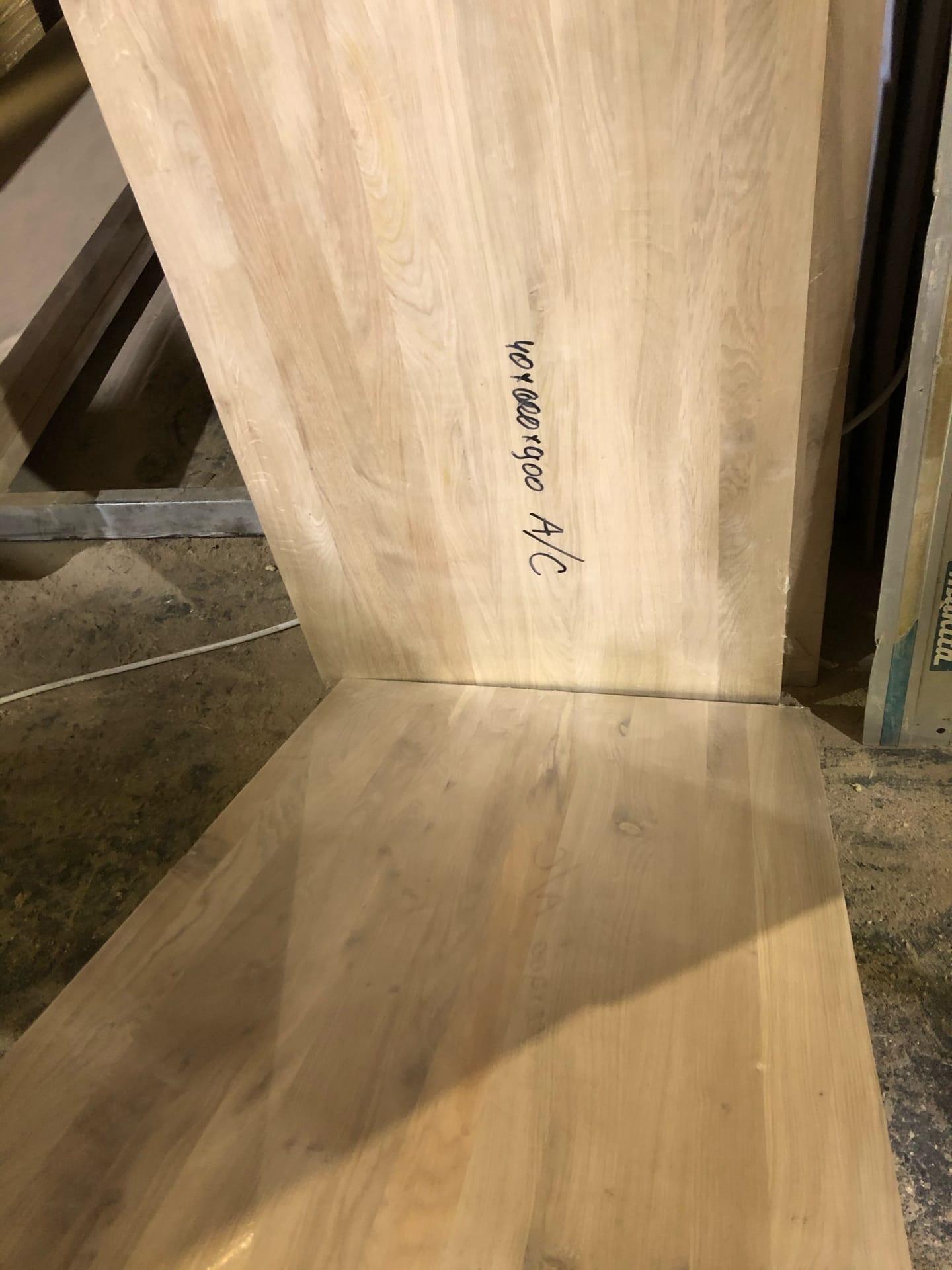 Мебельный щит дубовый (цельноламельный) - Рустик