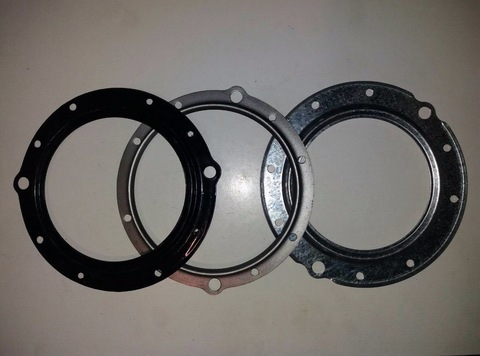 Шайба поворотного кулака УАЗ (комплект из 3-х штук) кольцо перегородки/обойма наружная/обойма сальника