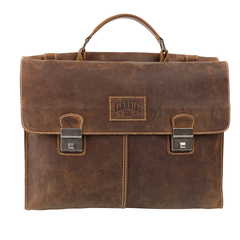 Портфель Klondike Native, коричневый, 40х11х31 см, 13,6 л