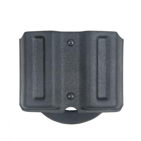 Подсумок двойной пластиковый №4 для магазинов к пистолетам Вектор, Glock 17 быстросъемный