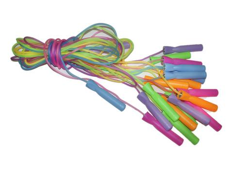 Скакалка (шнур силикон, ручки пластик) 2,2 м. Продажа только упаковкой 10 шт. 1422