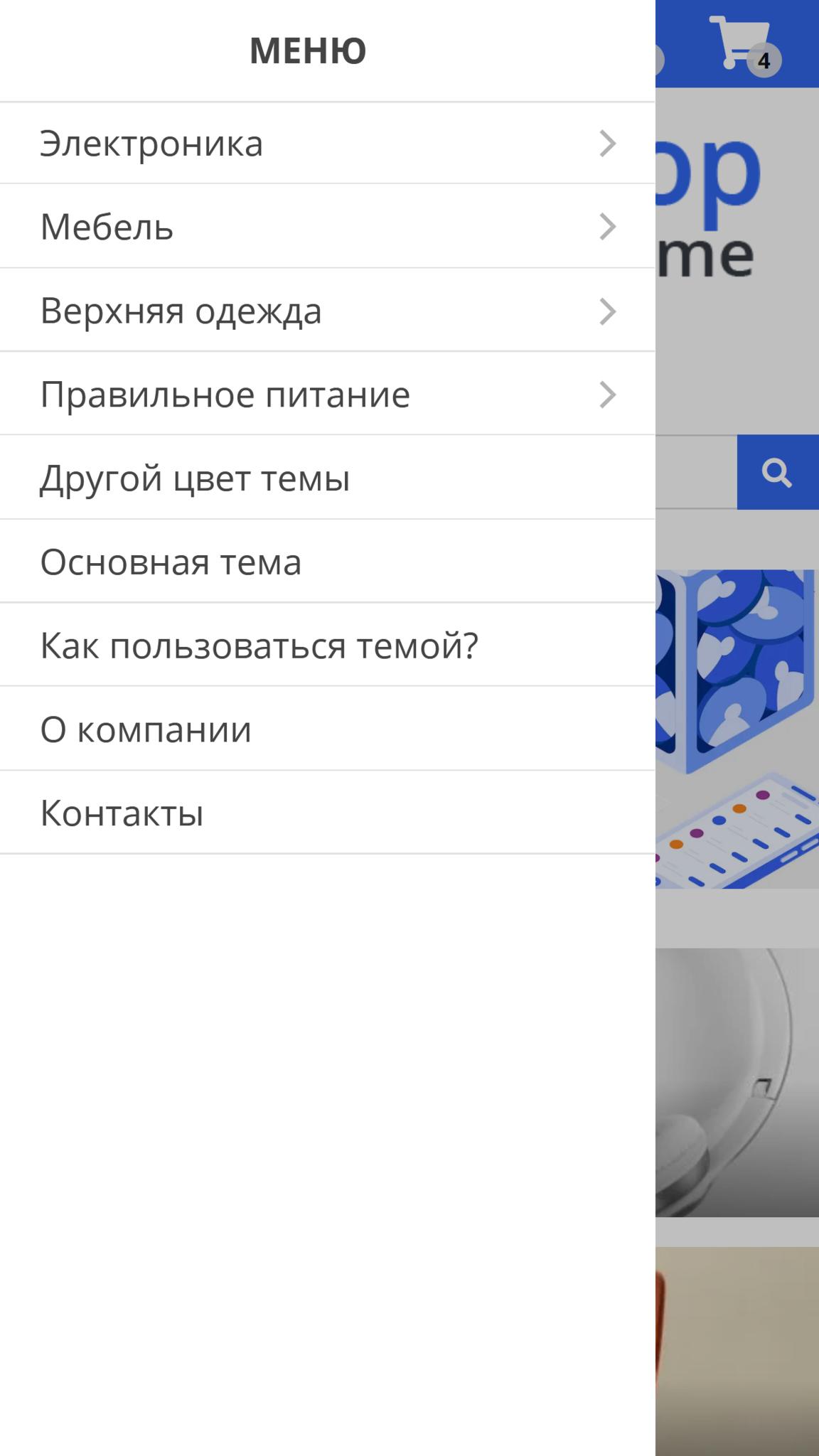 Шаблон интернет магазина - E-comm