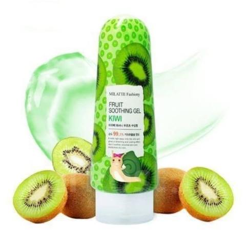 Milatte Fruit Soothing Gel Kiwi многофункциональный успокаивающий гель c экстрактом киви для лица и тела