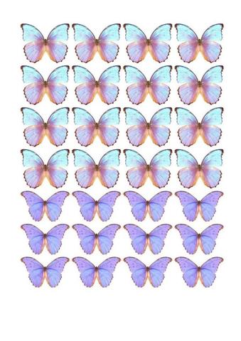 Печать на вафельной бумаге, Набор Бабочки 15