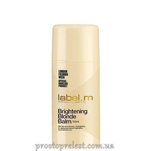 Label.M Brightening Blonde Balm - Осветляющий бальзам для блондинок