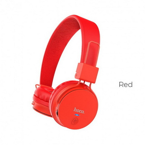 Наушники Bluetooth HOCO W19 Easy Move, (BT4.2, 6H) red