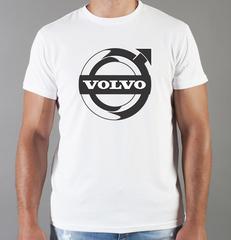 Футболка с принтом Вольво (Volvo) белая 007