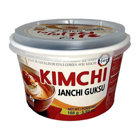 Суп с лапшой в корейском стиле со вкусом кимчи