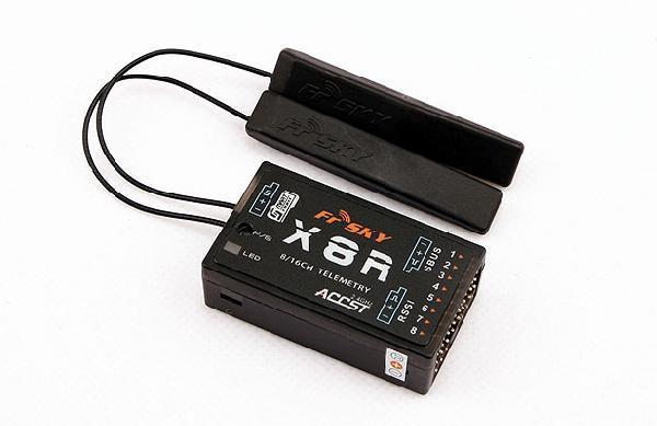 Модуль телеметрии FrSky X8R 2.4G S.Port 8/16ch Reciever PCB-антенна (старые антенны)
