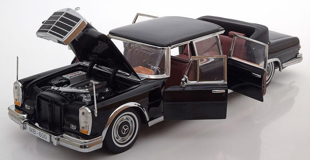 Коллекционная модель Mercedes-Benz W100 600 Pullman Limo landaulet 1966 Black