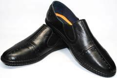 Кожаные летние туфли мужские Luciano Bellini 107607 Black.