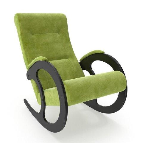 Кресло-качалка Комфорт Модель 3 венге/Verona Apple Green