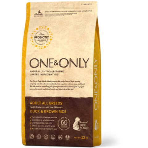 One&Only Duck & Brown Rice Adult All Breeds - 12 кг