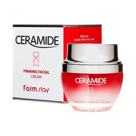 FarmStay Крем укрепляющий для лица с керамидами Ceramide Firming Facial Cream 50 мл.
