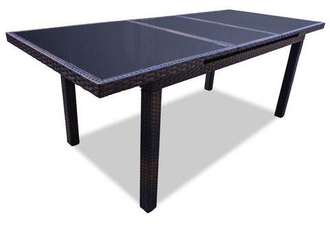 Стол плетеный раздвижной Миконос, цвет - венге