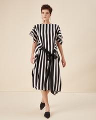 Платье в черную полоску 19-170