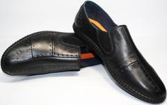 Красивые модные туфли мужские Luciano Bellini 107607 Black.