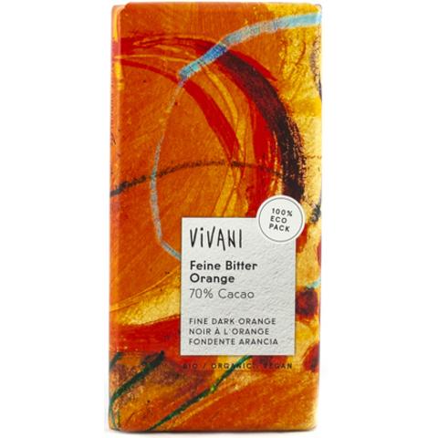 Vivani, Темный шоколад 70% с апельсином. Vivani, 100 г