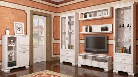 Шкаф навесной Венеция 12 Ижмебель бодега светлая