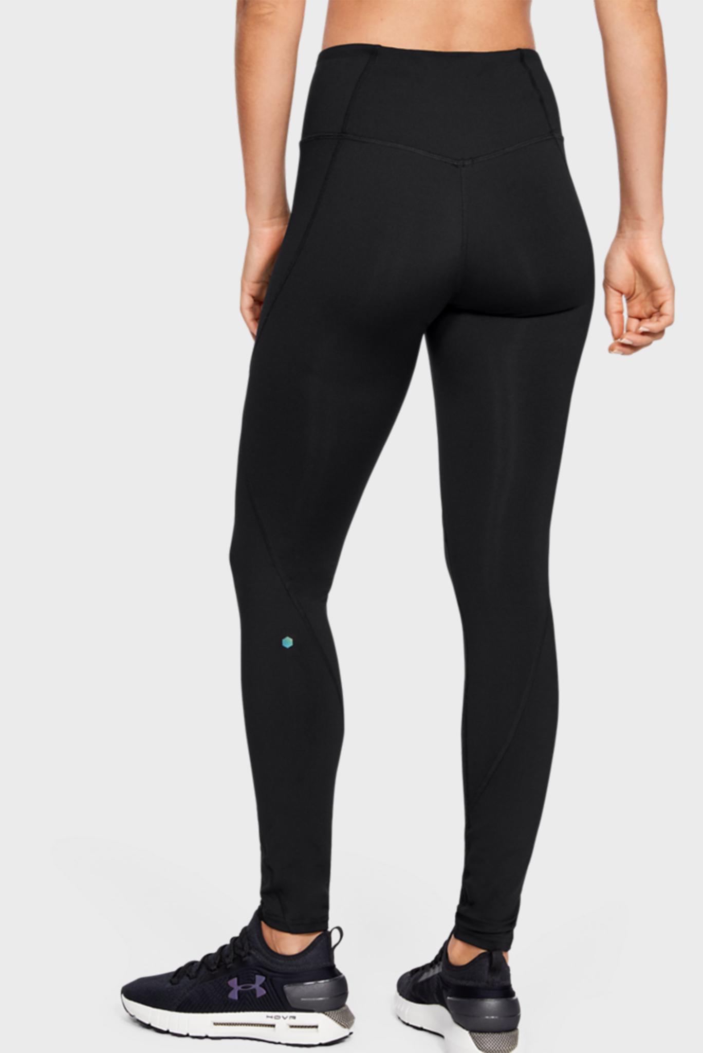 Женские черные спортивные тайтсы UA Rush Legging Under Armour