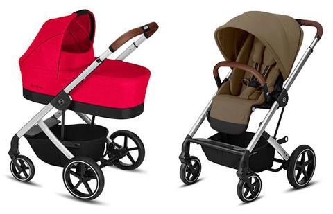 Детская коляска Cybex Balios S Rebel Red + Balios S Lux SLV