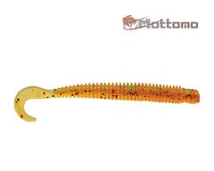 Твистер Mottomo Deft Worm 10см Orange Green Pepper 8шт.