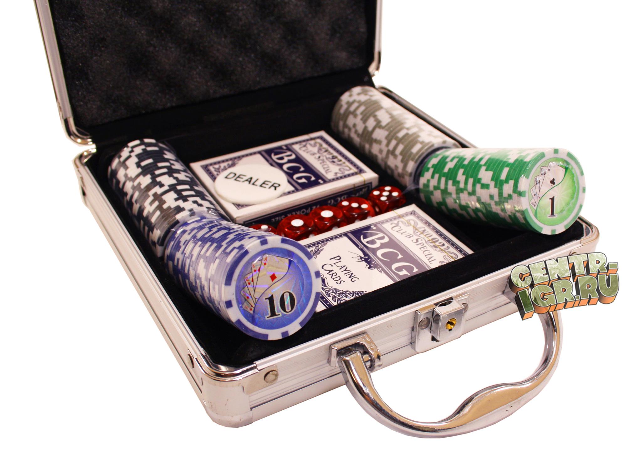 Покерный набор Royal flush 100 фишек