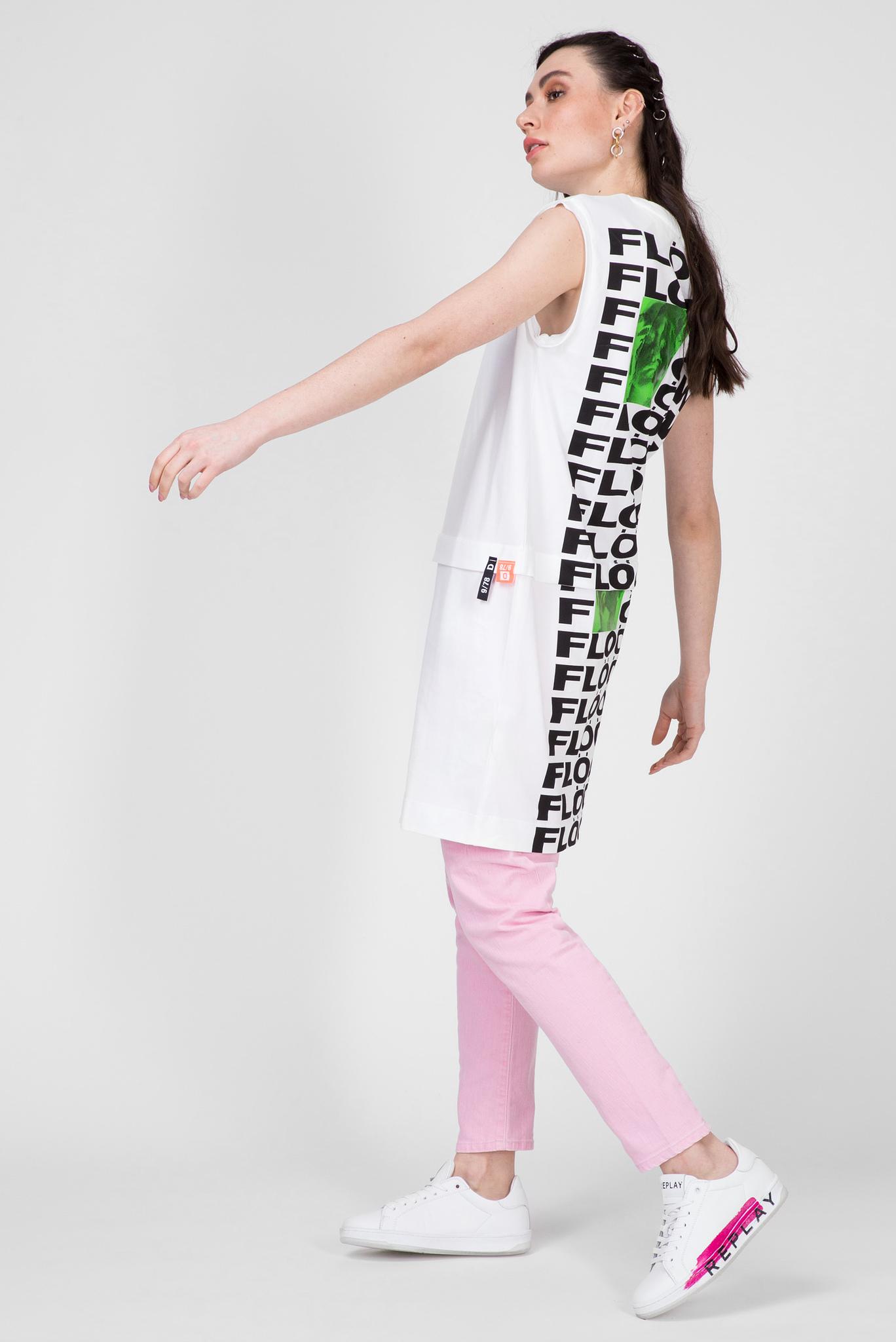 Женское белое платье-футболка D-HATTER Diesel