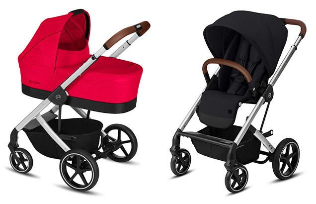 Cybex Balios S 2 в 1, для новорожденных Детская коляска Cybex Balios S Rebel Red + Balios S Lux SLV SLV-balios-s-2-in-1-rebel-red-deep-black.jpg
