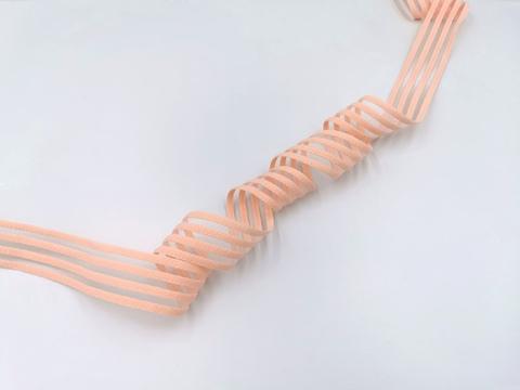 Резинка с прозрачными нейлоновыми вставками, 3см, персик, м