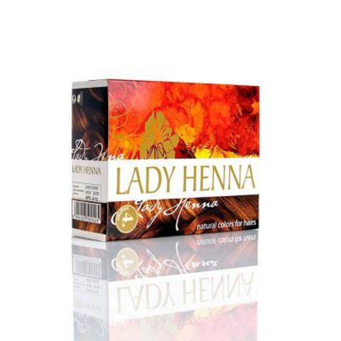 Краска для волос на основе хны Каштан (№4), 6x10 г Lady Henna